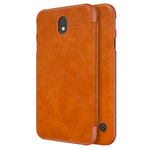 Чехол Nillkin Qin leather case для Samsung Galaxy J7 2017 (коричневый, кожаный)