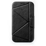 Чехол Momax The Core Smart Case для Samsung Galaxy Note 2 N7100 (черный, кожанный)