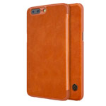 Чехол Nillkin Qin leather case для OnePlus 5 (коричневый, кожаный)