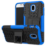 Чехол Yotrix Shockproof case для Samsung Galaxy J7 2017 J730 (синий, пластиковый)