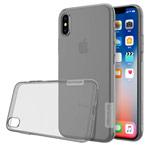 Чехол Nillkin Nature case для Apple iPhone X (серый, гелевый)