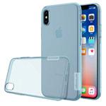 Чехол Nillkin Nature case для Apple iPhone X (голубой, гелевый)