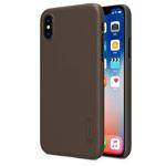 Чехол Nillkin Hard case для Apple iPhone X (темно-коричневый, пластиковый)