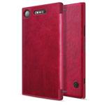 Чехол Nillkin Qin leather case для Sony Xperia XZ1 (красный, кожаный)