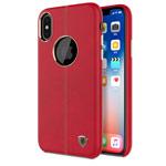 Чехол Nillkin Englon Leather Cover для Apple iPhone X (красный, кожаный)