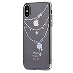 Чехол Devia Crystal Shell для Apple iPhone X (Silvery, пластиковый)