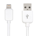 USB-кабель Dexim USB Lightning cable для Apple iPhone 5/iPad 4/iPad mini/iPod touch 5/iPod nano 7 (белый, Lightning)