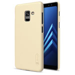 Чехол Nillkin Hard case для Samsung Galaxy A8 plus 2018 (золотистый, пластиковый)