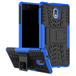 Чехол Yotrix Shockproof case для Nokia 3 (синий, пластиковый)
