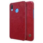 Чехол Nillkin Qin leather case для Huawei P20 lite (красный, кожаный)