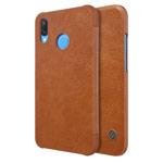 Чехол Nillkin Qin leather case для Huawei P20 lite (коричневый, кожаный)