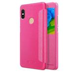 Чехол Nillkin Sparkle Leather Case для Xiaomi Redmi Note 5 pro (розовый, винилискожа)