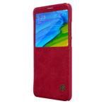 Чехол Nillkin Qin leather case для Xiaomi Redmi Note 5 pro (красный, кожаный)