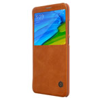 Чехол Nillkin Qin leather case для Xiaomi Redmi Note 5 pro (коричневый, кожаный)