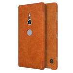 Чехол Nillkin Qin leather case для Sony Xperia XZ2 (коричневый, кожаный)