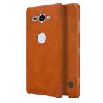 Чехол Nillkin Qin leather case для Sony Xperia XZ2 compact (коричневый, кожаный)