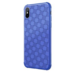 Чехол Nillkin Weave case для Apple iPhone X (синий, гелевый)