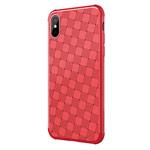 Чехол Nillkin Weave case для Apple iPhone X (красный, гелевый)