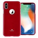 Чехол Mercury Goospery Jelly Case Hole для Apple iPhone X (красный, гелевый)