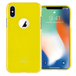 Чехол Mercury Goospery Jelly Case Hole для Apple iPhone X (желтый, гелевый)