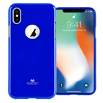 Чехол Mercury Goospery Jelly Case Hole для Apple iPhone X (синий, гелевый)