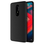 Чехол Nillkin Synthetic fiber для OnePlus 6 (черный, карбон)