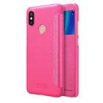 Чехол Nillkin Sparkle Leather Case для Xiaomi Mi A2 (розовый, винилискожа)