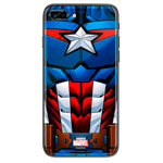 Чехол Marvel Avengers Hard case для Apple iPhone 8 plus (Captain America, пластиковый)