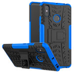 Чехол Yotrix Shockproof case для Xiaomi Mi Max 3 (синий, пластиковый)