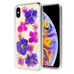 Чехол Yotrix FlowersFoil Case для Apple iPhone XS (Purple and Pink, гелевый)