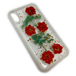 Чехол Yotrix FlowersFoil Case для Apple iPhone XS (Red, гелевый)
