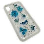 Чехол Yotrix FlowersFoil Case для Apple iPhone XS (Blue, гелевый)