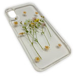 Чехол Yotrix FlowersFoil Case для Apple iPhone XS (Green, гелевый)