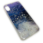 Чехол Yotrix GlitterFoil Case для Apple iPhone XS (Galaxy One, гелевый)