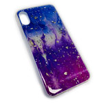 Чехол Yotrix GlitterFoil Case для Apple iPhone XS (Galaxy Five, гелевый)