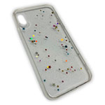 Чехол Yotrix GlitterFoil Case для Apple iPhone XS (Stars, гелевый)