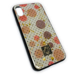 Чехол Yotrix GlitterFoil Case для Apple iPhone XS (Rounds, гелевый)