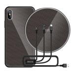 Подарочный набор Nillkin Fancy (черный, беспроводное зарядное устройство/чехол iPhone X/кабель)