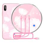 Подарочный набор Nillkin Fancy (розовый, беспроводное зарядное устройство/чехол iPhone X/кабель)