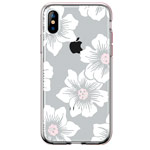 Чехол Comma Crystal Flowers для Apple iPhone XS (Peony Brown, гелевый)