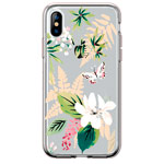 Чехол Comma Crystal Flowers для Apple iPhone XS max (Butterfly White, гелевый)
