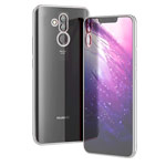 Чехол Yotrix GlitterSoft для Huawei Mate 20 lite (серебристый, гелевый)