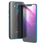 Чехол Yotrix GlitterSoft для Huawei Mate 20 lite (синий, гелевый)
