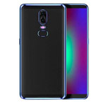 Чехол Yotrix GlitterSoft для OnePlus 6 (синий, гелевый)