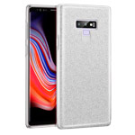 Чехол Yotrix BrightCase для Samsung Galaxy Note 9 (серебристый, гелевый)