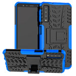 Чехол Yotrix Shockproof case для Samsung Galaxy A7 2018 (синий, пластиковый)