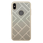 Чехол Nillkin Air case для Apple iPhone XS max (золотистый, пластиковый)