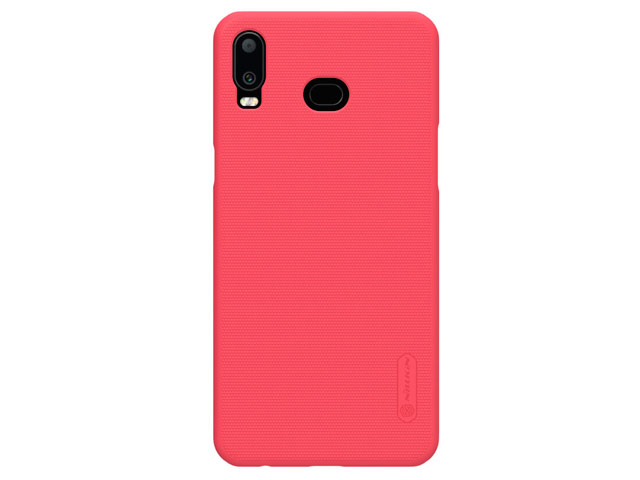 Чехол Nillkin Hard case для Samsung Galaxy A6s (красный, пластиковый)