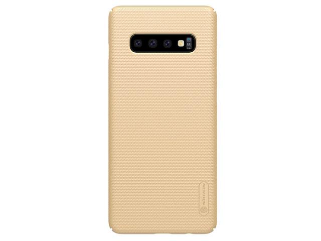 Чехол Nillkin Hard case для Samsung Galaxy S10 plus (золотистый, пластиковый)