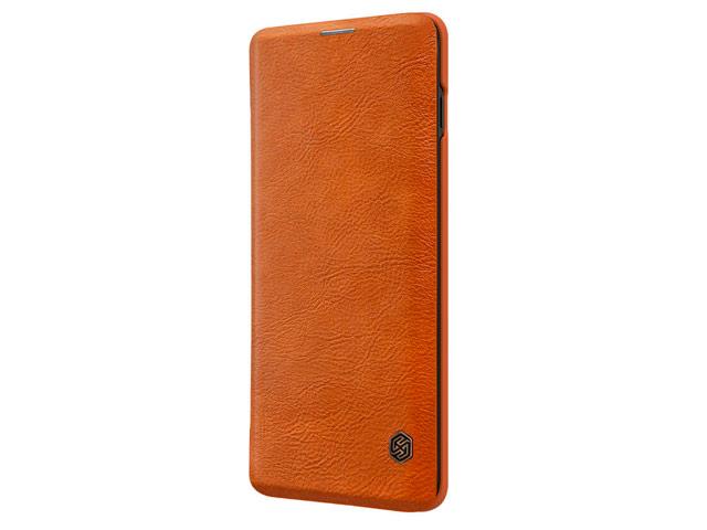 Чехол Nillkin Qin leather case для Samsung Galaxy S10 plus (коричневый, кожаный)
